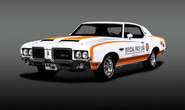 Wall Art - Photograph - 1972 Hurst Oldsmobile  -  1972hurstoldspacecargray196692 by Frank J Benz