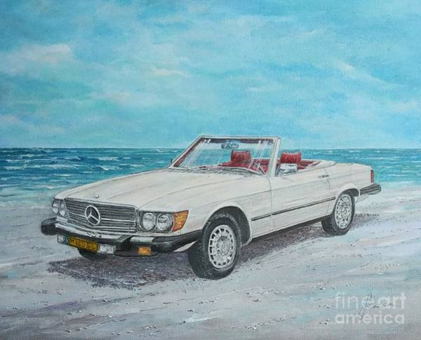 Painting - 1979 Mercedes 450 Sl by Sinisa Saratlic