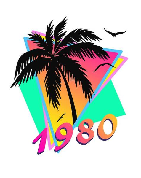 Birthday Party Digital Art - 1980 Cool Tropical Sunset by Filip Hellman
