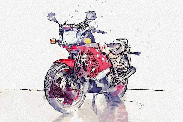 Painting - 1984 Kawasaki Gpz 750 R 2 Watercolor By Ahmet Asar by Ahmet Asar