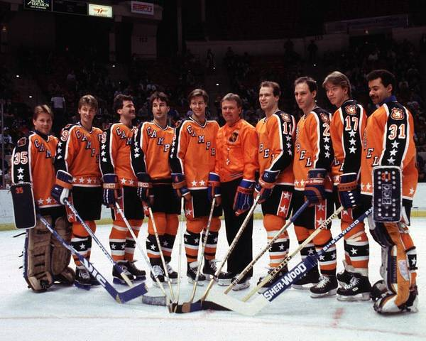 Nhl Players Photograph - 1986 38th Nhl All-star Game Campbell by B Bennett