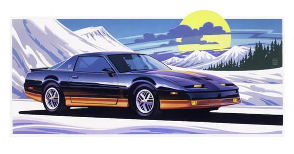 Wall Art - Painting - 1987 Pontiac Firebird by Garth Glazier
