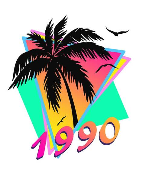 Birthday Party Digital Art - 1990 Cool Tropical Sunset by Filip Hellman