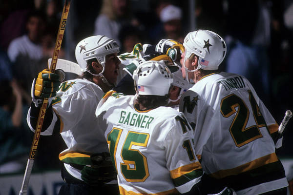 Stanley Cup Playoffs Photograph - 1991 Playoffs  Minnesota North Stars by B Bennett