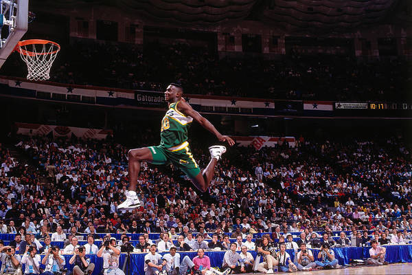 Contest Photograph - 1991 Slam Dunk Contest by Nathaniel S. Butler