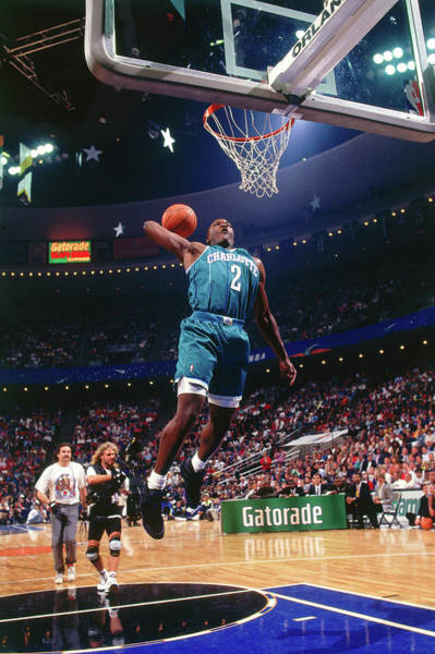 Contest Photograph - 1992 Slam Dunk Contest Larry Johnson by Andrew D. Bernstein
