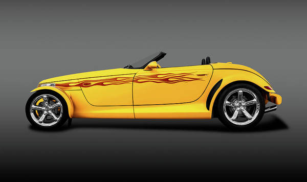 Wall Art - Photograph - 1999 Plymouth Prowler  -  1999plymouthprowlerroadstergray196648 by Frank J Benz