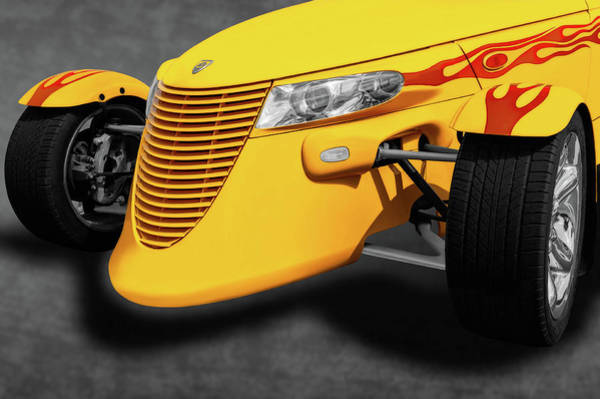 Wall Art - Photograph - 1999 Plymouth Prowler Front Detail  -  1999prowlerfrontenddetail196639 by Frank J Benz