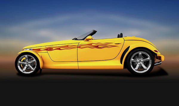 Wall Art - Photograph - 1999 Plymouth Prowler Roadster  -  1999plymouthprowlerconvertibleroadster196648 by Frank J Benz
