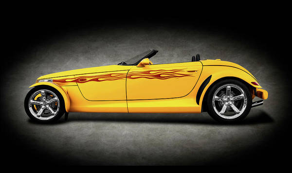 Wall Art - Photograph - 1999 Plymouth Prowler Roadster  -  1999prowlerroadsterconverttexture196648 by Frank J Benz