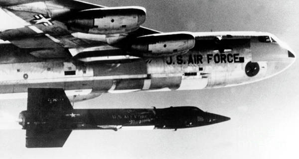 Wall Art - Photograph - 1x15 Rocket Plane Launched From The B52 Carrying It, 1962 by American School