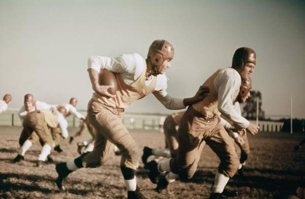 Sport Photograph - 1930s High School Football by Michael Ochs Archives