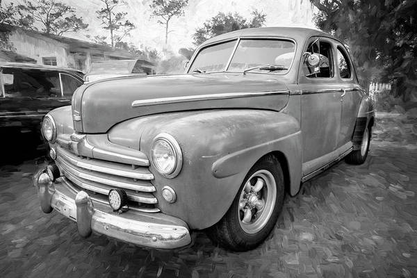 Photograph - 1947 Ford Super Deluxe Coupe 007 by Rich Franco