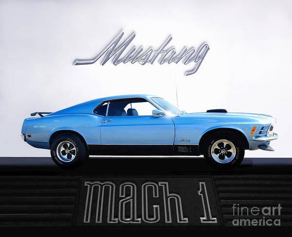 Wall Art - Photograph - 1970 Mach 1 Mustang by Thomas Burtney