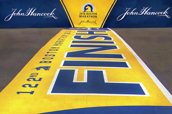 Photograph - 2018 Boston Marathon Finish Line by Joann Vitali
