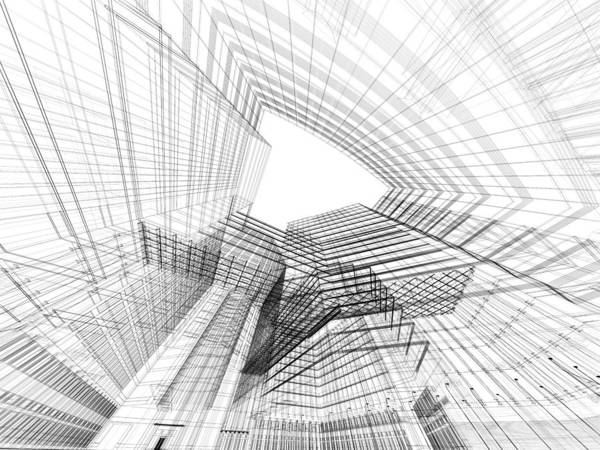 Housing Project Photograph - 3d Architecture Abstract by Nadla