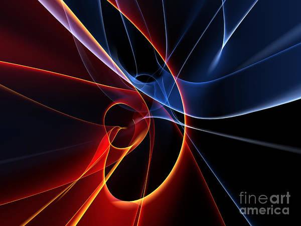 Burning Wall Art - Digital Art - 3d Rendered Backgrounds by Esolbiz