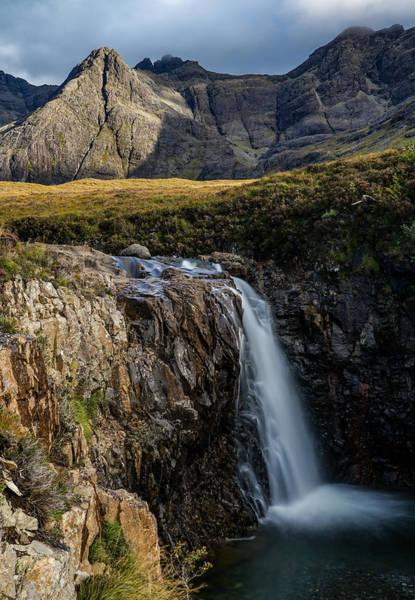 A Beautiful Waterfall At Fairy Pools In Isle Of Skye, Scotland. Art Print