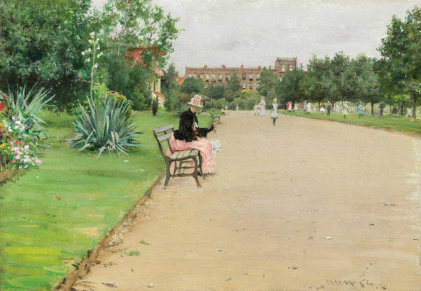 Painting - A City Park by William Merritt Chase