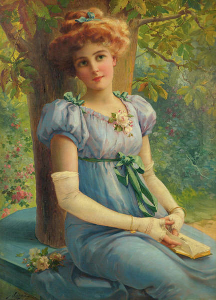 Wall Art - Painting - A Sweet Glance, 19th Century by Emile Vernon