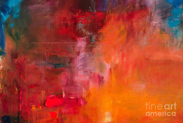 Wall Art - Digital Art - Abstract Oil Painting Background. Oil by Anton Evmeshkin