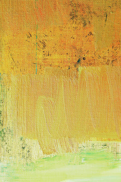 Vertical Abstract Photograph - Abstract Painted Yellow Art Backgrounds by Ekely