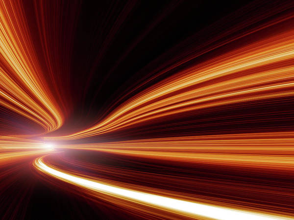 Perpetual Photograph - Abstract Speed Motion In Highway Tunnel by Nadla