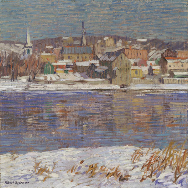 Painting - Across The Delaware by Robert Spencer