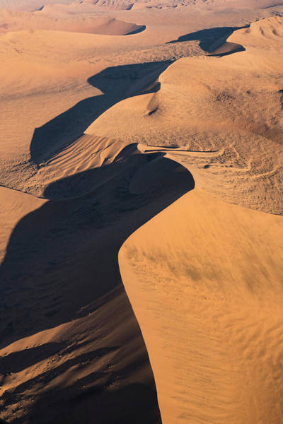 Wall Art - Photograph - Aerial View Over Sossusvlei Sand Dunes by Brenda Tharp