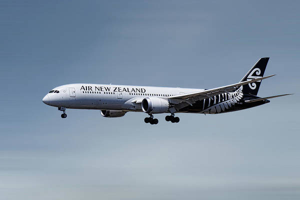 Wall Art - Mixed Media - Air New Zealand Boeing 787-9 Dreamliner by Smart Aviation