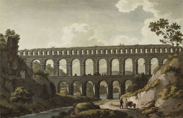 Wall Art - Painting - Albanis De Beaumont, Jean-francois  1753-1812  The Antiquities And Harbours In The South Of France by Celestial Images