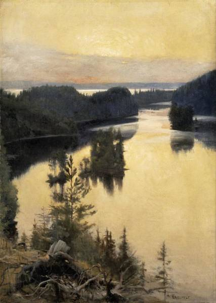 Wall Art - Painting - Albert Edelfelt, Kaukola Ridge At Sunset by Albert EDELFELT