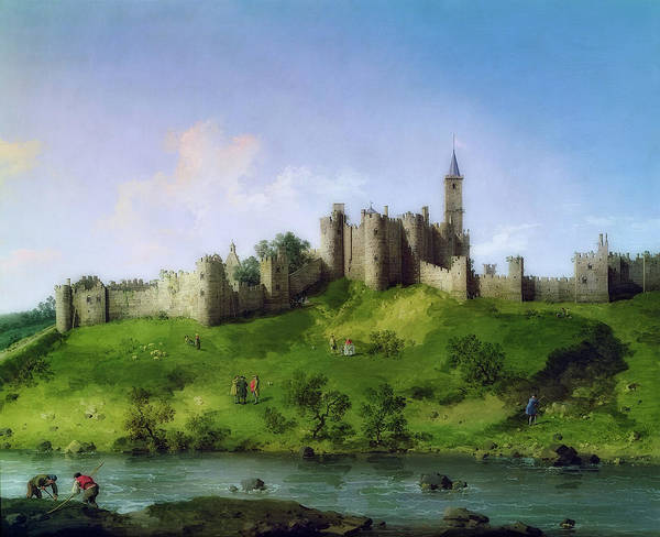 Wall Art - Painting - Alnwick Castle by Canaletto
