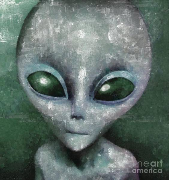 Wall Art - Painting - Ancient Alien by Raphael Terra