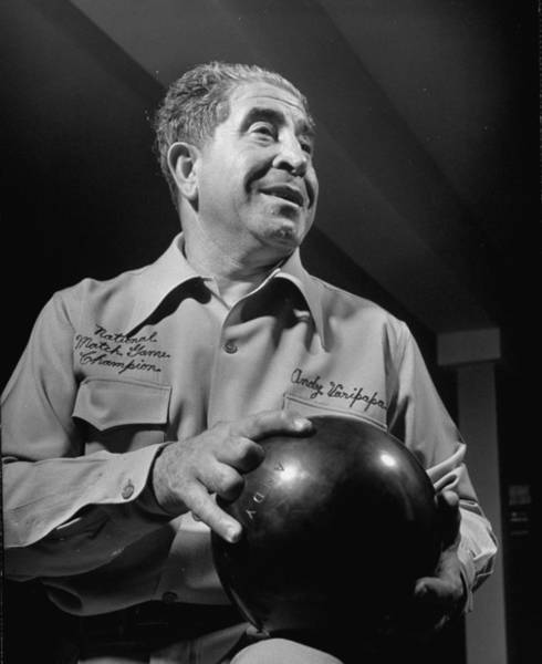 Ten Pin Bowling Wall Art - Photograph - Andy Varipapa by Gjon Mili