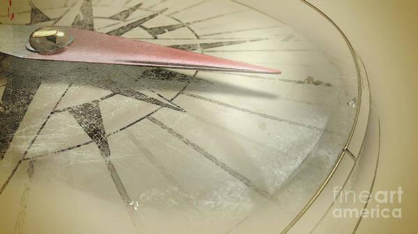 Wall Art - Digital Art - Antique Compass Closeup by Allan Swart