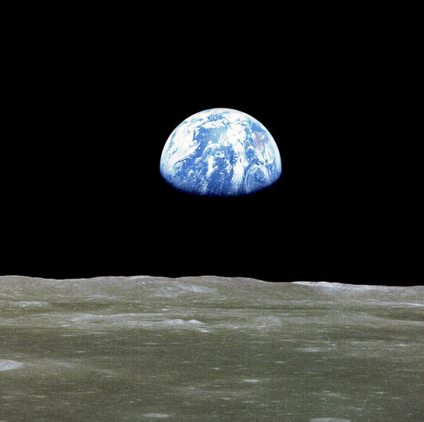 Wall Art - Photograph - Apollo 11, Earthrise, 1969 by Science Source