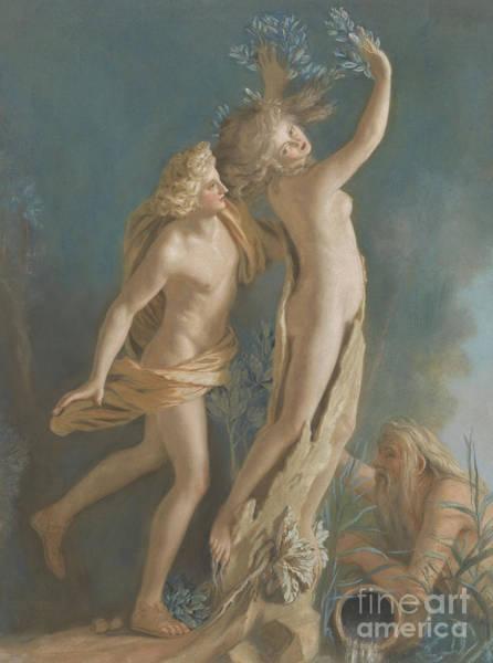 Jean Etienne Liotard Wall Art - Pastel - Apollo And Daphne by Jean-Etienne Liotard