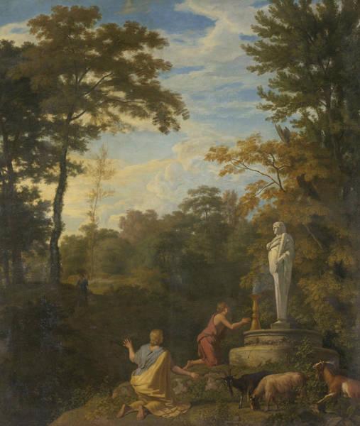 Painting - Arcadian Landscape by Johannes Glauber
