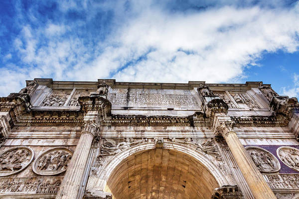 Wall Art - Photograph - Arch Of Constantine, Rome, Italy by William Perry