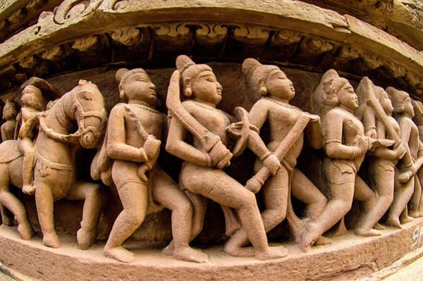 Wall Art - Photograph - Arts On Wall, Khajuraho Temples, India by Panoramic Images