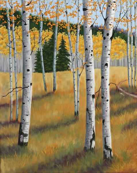 Wall Art - Painting - Aspens II by Julie Peterson