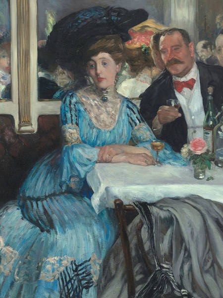 Wall Art - Painting - At Mouquin's by William Glackens