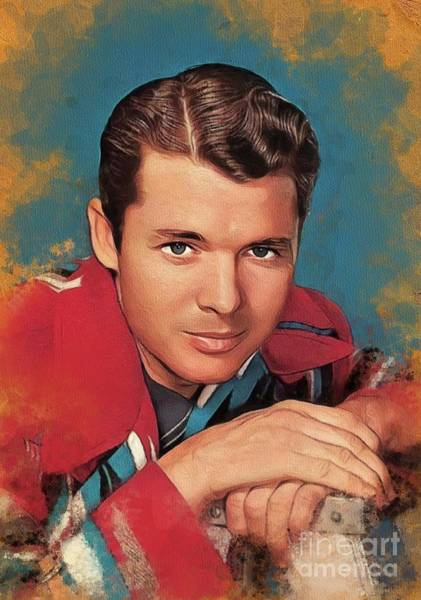 Wall Art - Painting - Audie Murphy, Actor And Hero by John Springfield