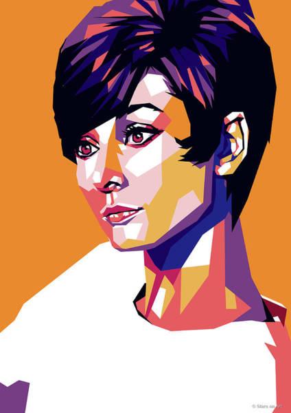 Wall Art - Digital Art - Audrey Hepburn by Stars-on- Art