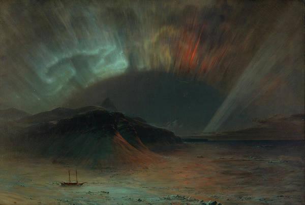 Aurora Borealis Painting - Aurora Borealis by Frederic Edwin Church