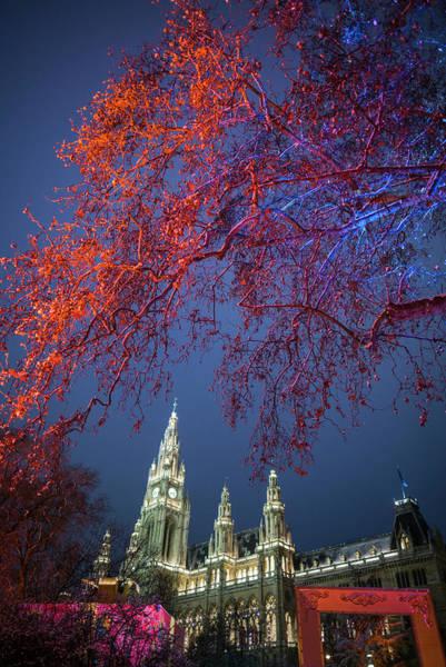 Rathaus Photograph - Austria, Vienna, Rathaus, Town Hall by Walter Bibikow