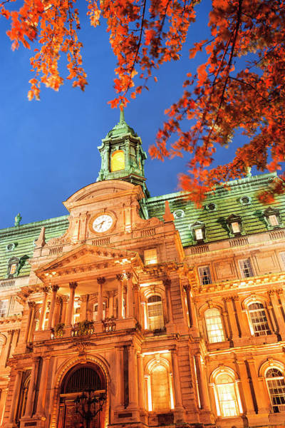 Wall Art - Photograph - Autumn-colored Trees, Hotel De Ville by Stuart Westmorland