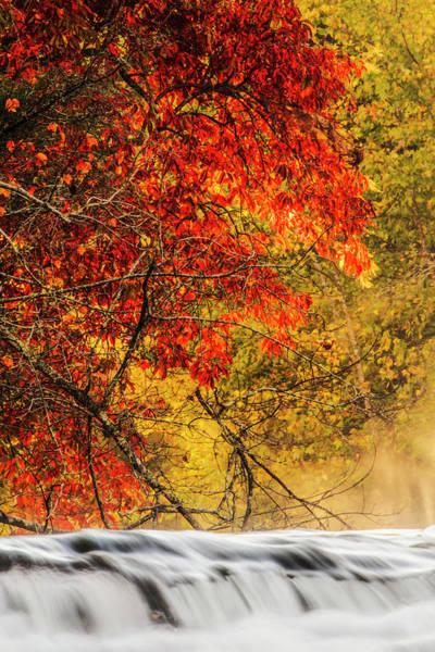 Wall Art - Photograph - Autumn View Of Hooker Falls On Little by Adam Jones