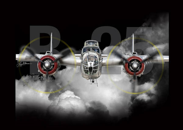 Army Air Corps Photograph - B-25 Mitchell Bomber by Larry McManus
